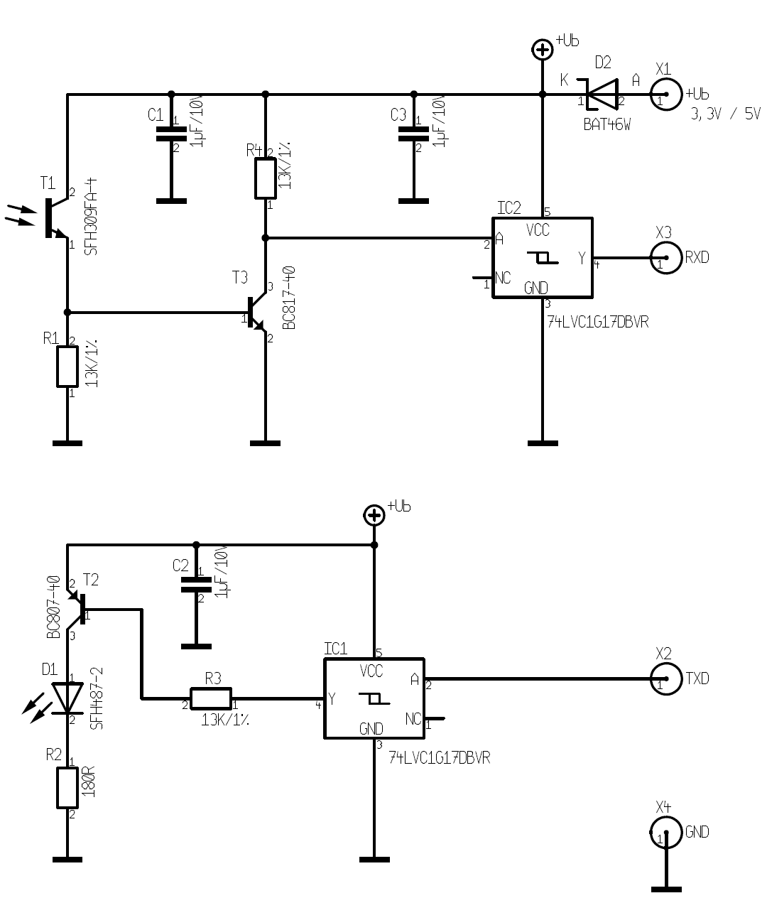 IR-Schreib-Lesekopf, TTL-Interface [wiki.volkszaehler.org]